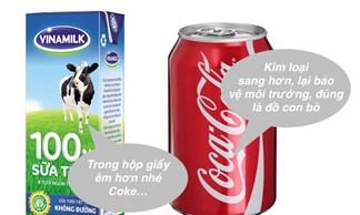 [Tại sao] Sữa được chứa trong hộp giấy chữ nhật, trong khi nước ngọt lại chứa trong lon trụ tròn?