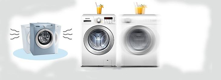 Máy giặt có hiện tượng rung mạnh và kêu to