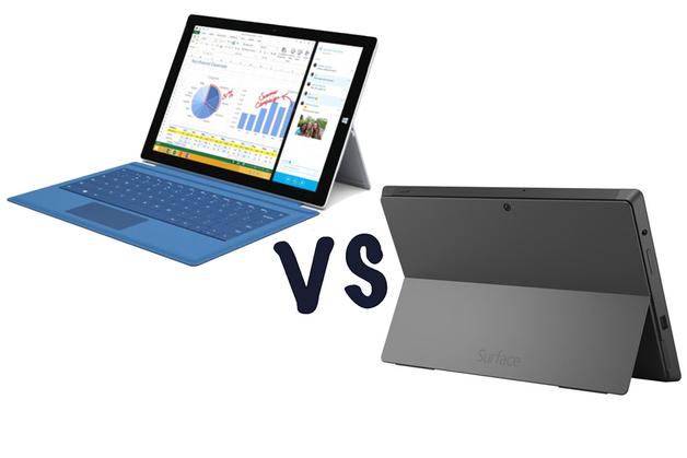 Surface Pro 3 và Surface Pro 2, một bước nhảy vọt ấn tượng