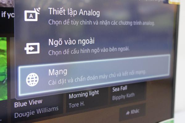Hướng dẫn kết nối mạng với Tivi Sony 2