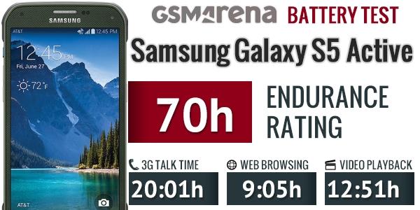 Thời lượng dùng pin của Samsung Galaxy S5 Active