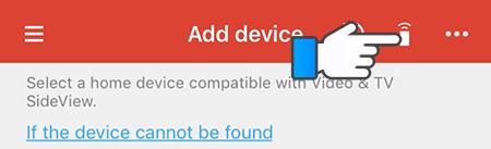 Chọn vào biểu tượng remote