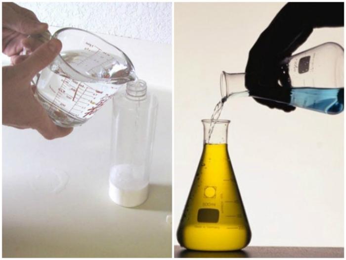 Việc pha trộn chất tẩy rửa không đúng cách có thể gây phản tác dụng
