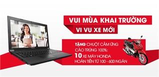Lenovo khuyến mại lớn  - Vui mùa khai trường, Vi vu xe mới