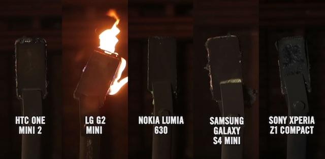 Khả năng chống lửa của những smartphone nổi tiếng ra sao