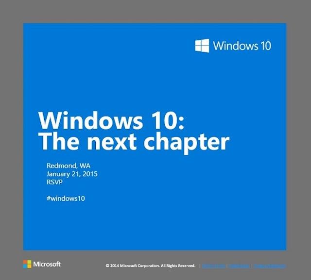 Windows Phone 10 sẽ được bật mí ngày 20/1