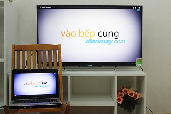HDMI giúp truyền tải nhanh hình ảnh từ laptop lên màn hình lớn tivi
