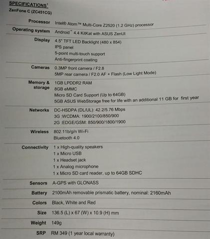 Asus Zenfone C chuẩn bị cập bến Việt Nam với giá tốt 6
