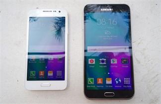 So sánh Galaxy A3 và Galaxy E7, phần 1 - thiết kế và khả năng hiển thị