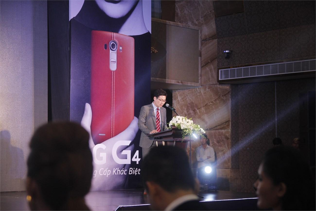 Tổng Giám đốc LG Electronics Việt Nam – Ông Young Lak Kim phát biểu