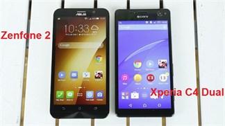 Asus Zenfone 2 'đối đầu' Xperia C4 Dual về thời lượng pin trong một số bài test