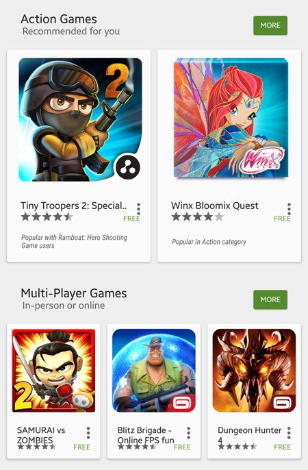 Giao diện CH Play 5