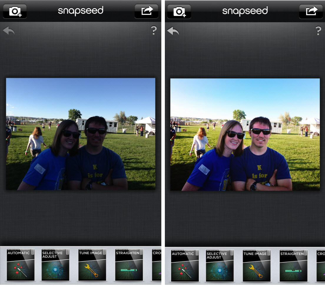 Snapseed còn cung cấp cho bạn 5 bộ lọc mới