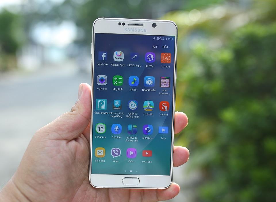 Mặt trước Samsung Galaxy Note 5