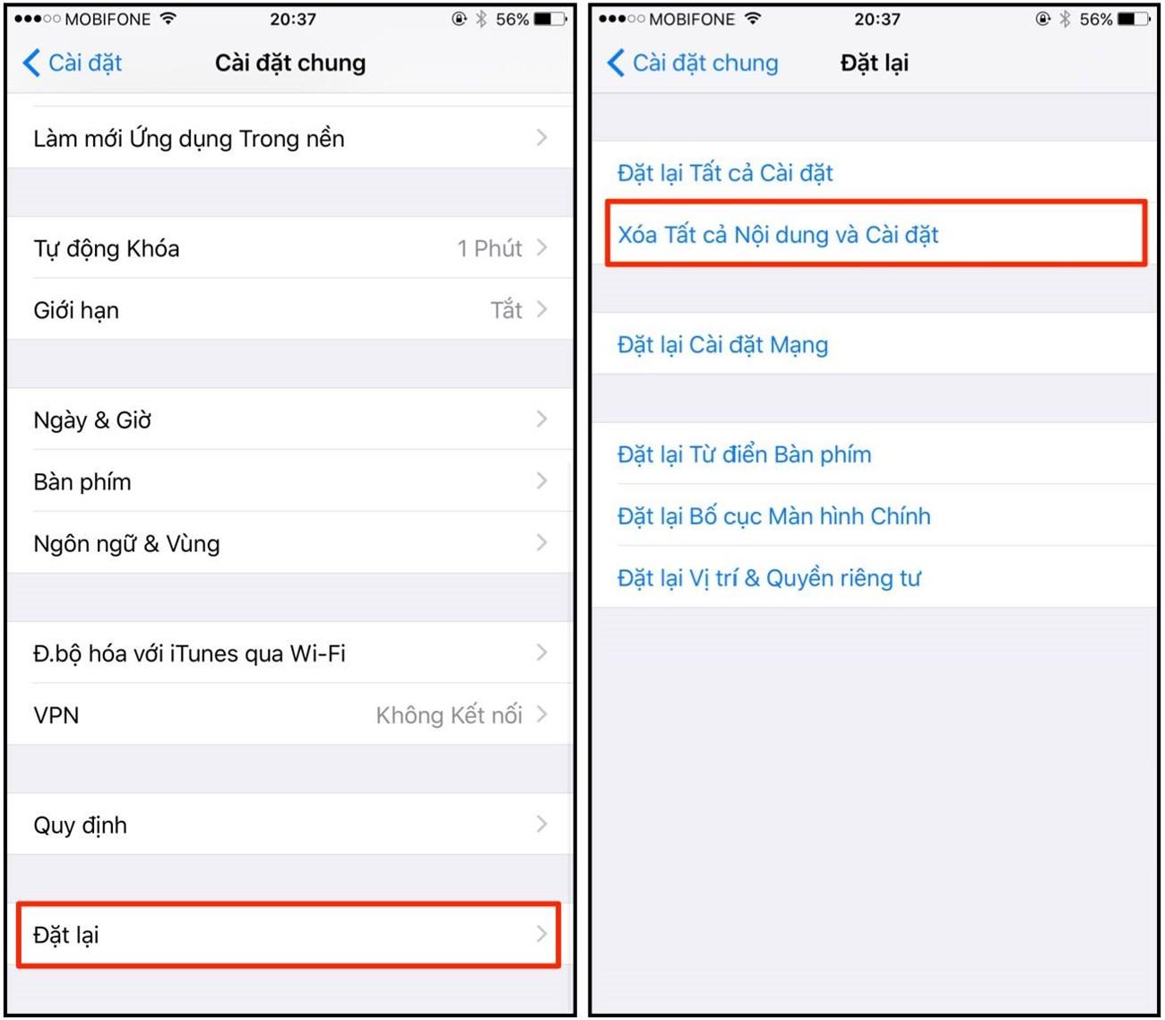 Cách tăng hiệu năng iOS 9 iPhone đời cũ bước 5