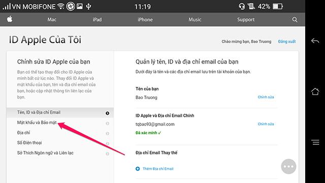 Bảo mật hai lớp iCloud