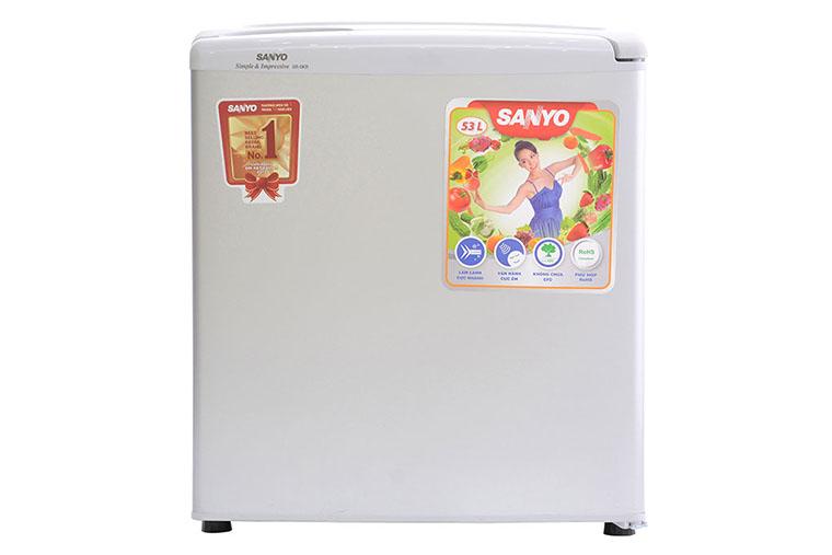 Tủ lạnh Sanyo Mini SR-5KR 50 lít có thiết kế nhỏ gọn, xinh xắn