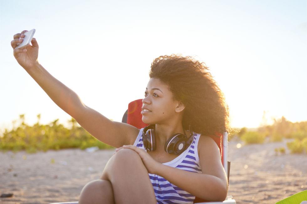 Ánh sáng khi selfie