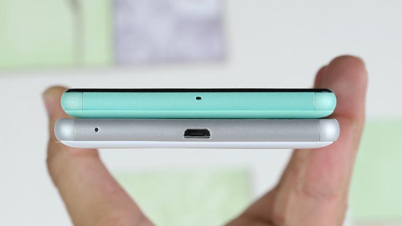 So sánh cạnh dưới Sony Xperia C4 và Sony Xperia C5