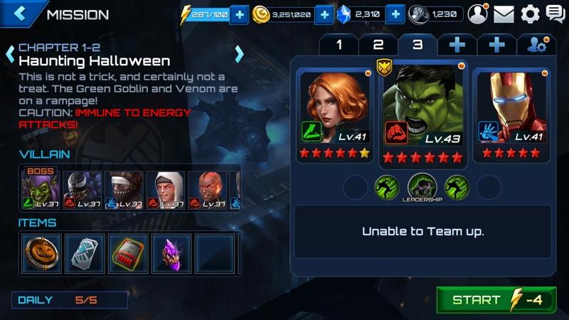 Marvel Future Fight Halloween 4