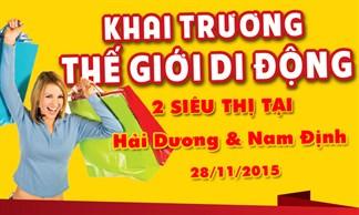 Tưng bừng khai trương siêu thị Thegioididong tại Hải Dương, Nam Định
