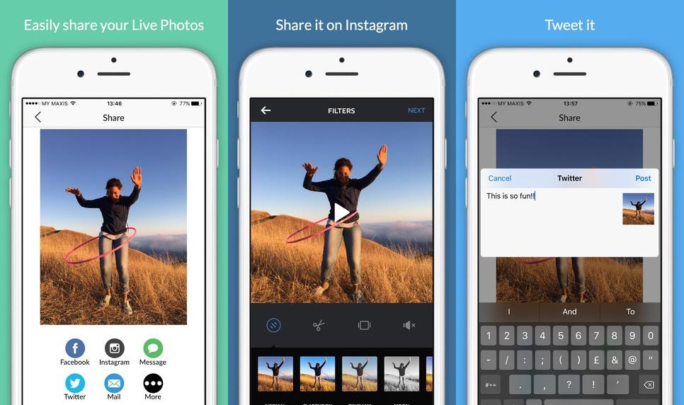 Trước khi được miễn phí, GifLy - Share Live Photos có giá 0,99 USD