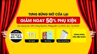 Thegioididong.com Cống Quỳnh trở lại, mua Phụ kiện Online giảm 50%
