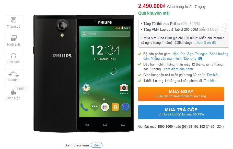 Philips S398 vừa được giảm giá