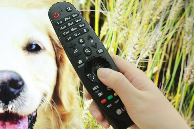 Magic Remote LG 2016 - Nhấn giữ con lăn chuột