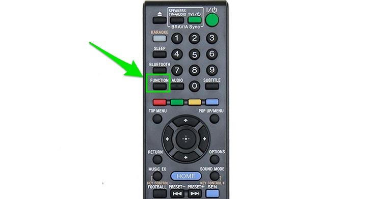 Nút FUNCTION trên remote