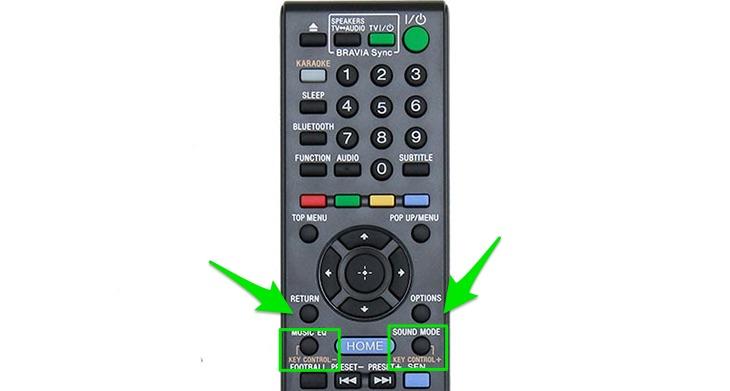 Nhấn nút KEY CONTROL + hoặc KEY CONTROL -.