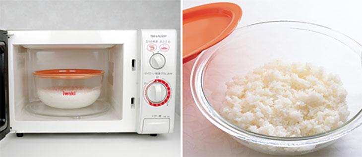Khi nồi cơm điện nhà bạn có trục trặc, có thể dùng lò vi sóng để nấu cơm