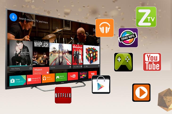 Android tivi với các ứng dụng phong phú
