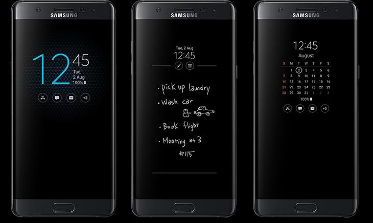 Màn hình điện thoại khi bật chế độ Always On Display