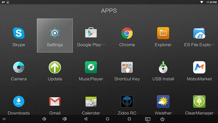 Giao diện Android tivi box có thể khác nhau tuỳ hãng