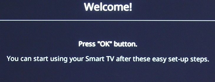Tivi khởi động lại, nhấn OK