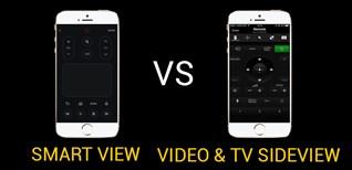 So sánh ứng dụng điều khiển tivi bằng điện thoại của Sony và Samsung