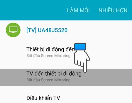 Chọn TV đến thiết bị di động
