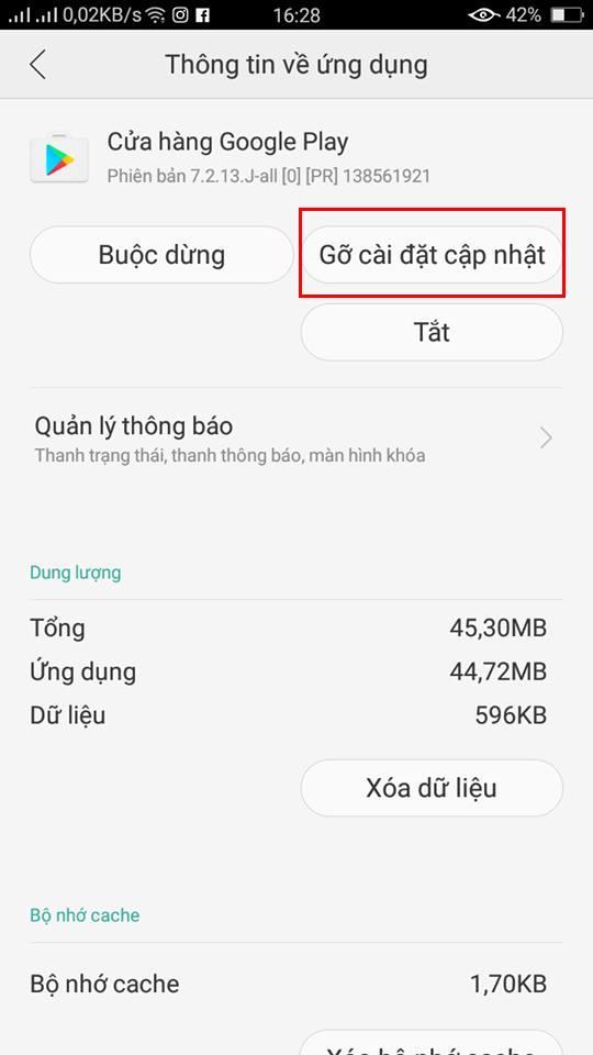 Hướng dẫn khắc phục lỗi không tải Được ứng dụng trên Android