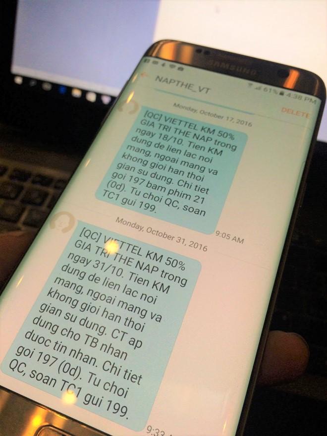Các thuê bao của 5 nhà mạng không nhận được thêm tin nhắn báo khuyến mại từ 31/10/2016. Ảnh: Ngô Minh.