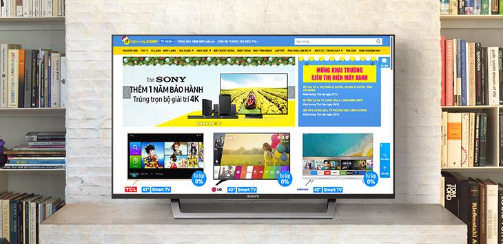 Sửa lỗi tivi Sony không có trình duyệt web