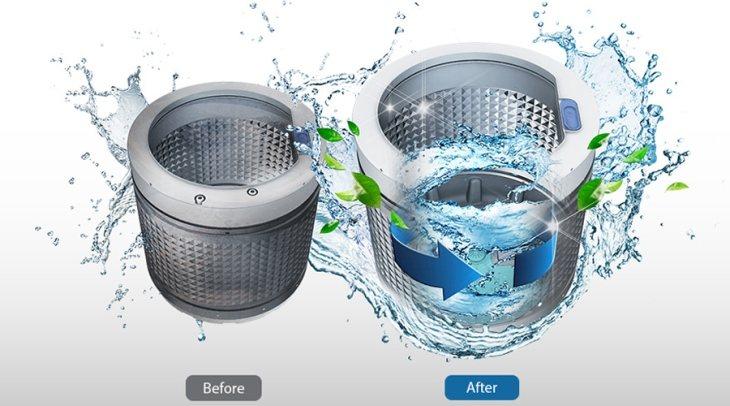 Chế độ vệ sinh lồng giặt giúp tiêu diệt vi khuẩn trong lồng giặt