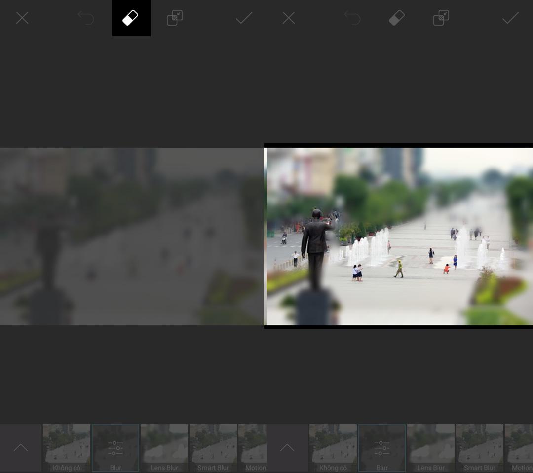 Cách tạo ảnh hiệu ứng thu nhỏ cực Độc Đáo bằng smartphone