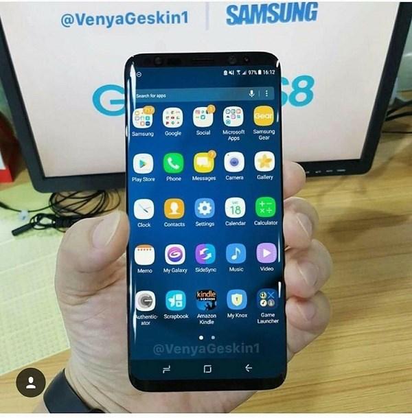 Các phím điều hướng ảo trên Galaxy S8 xuất hiện