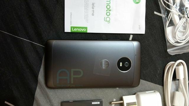 Hình ảnh Moto G5 thực tế cùng vỏ hộp và phụ kiện