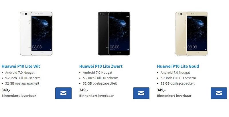 Huawei P10 Lite a