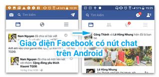 Đem giao diện Facebook cũ có nút chat trở lại trên Android