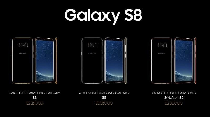 Giá bán Galaxy S8 các phiên bản