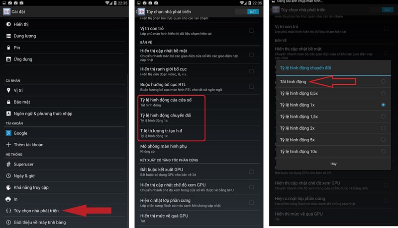 smartphone android chậm lag
