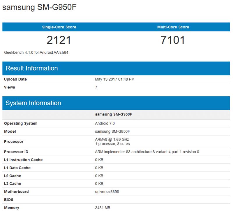 Hiệu năng của Galaxy S8 chạy chip Exynos 8895 đánh bại mọi siêu phẩm hiện nay
